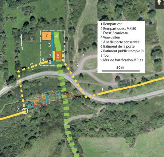 Plan Grabung Gergovia Toranlage