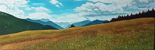 Südtirol,  40x90 cm, Öl , 2019