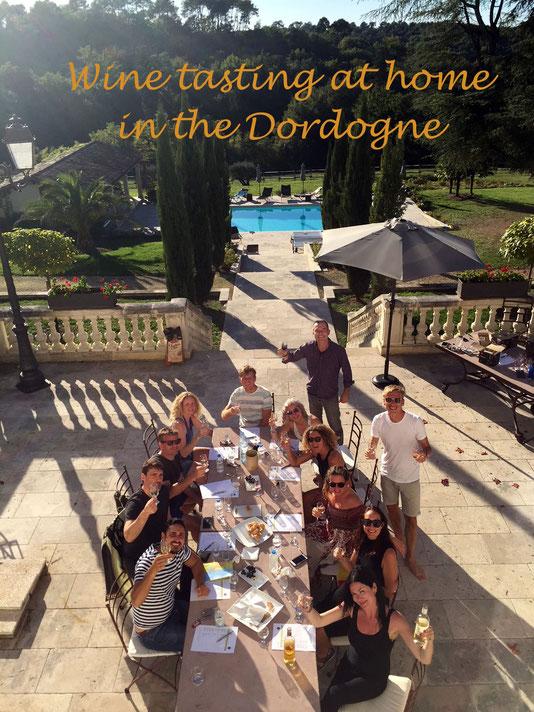 Home wine tasting in the Dordogne