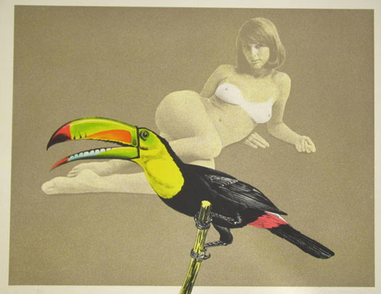 Leda et le cygne vu par Mel Ramos (Toucan better than one, 1968)