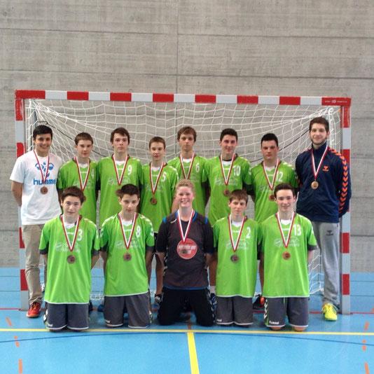 Die erfolgreichen U17 Junioren des HC Büelen Nesslau