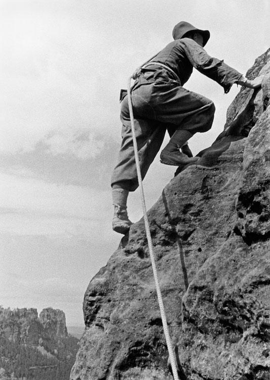 Walter Winkler, Domwächter, Alter Weg, Foto: Rudolf Kobach, 19. Mai 1935