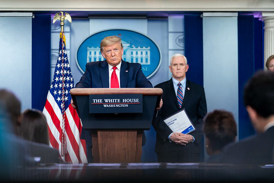 White House briefing on the coronavirus, March 26, 2020 (Source Flickr)