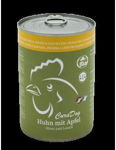 CuraDog Huhn das Bio Nassfutter. Empfehlenswert bei Hunden mit Stoffwechselstörungen und Allergien.