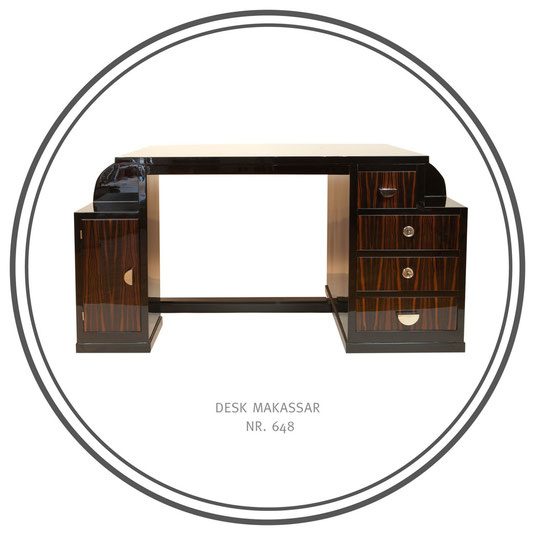 Desk Makassar, Art Déco Wiesbaden Regine Schmitz-Avila