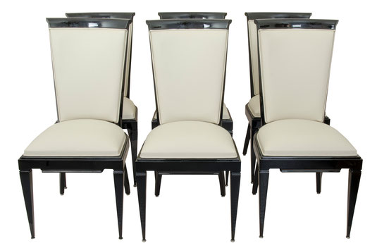 Set of 6 dining chairs, Art Déco Wiesbaden Regine Schmitz-Avila