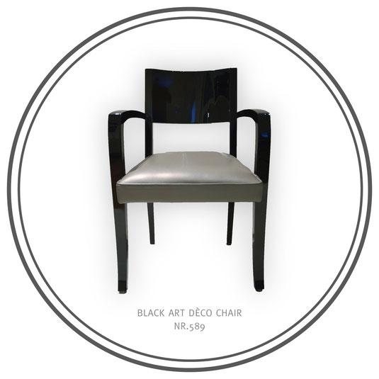 Black chair, Art Déco Wiesbaden Regine Schmitz-Avila