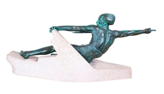 A javelin thrower, Art Déco Wiesbaden Regine Schmitz-Avila