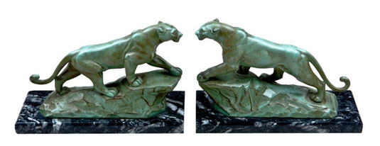 A pair of lions-bookends, Art Déco Wiesbaden Regine Schmitz-Avila