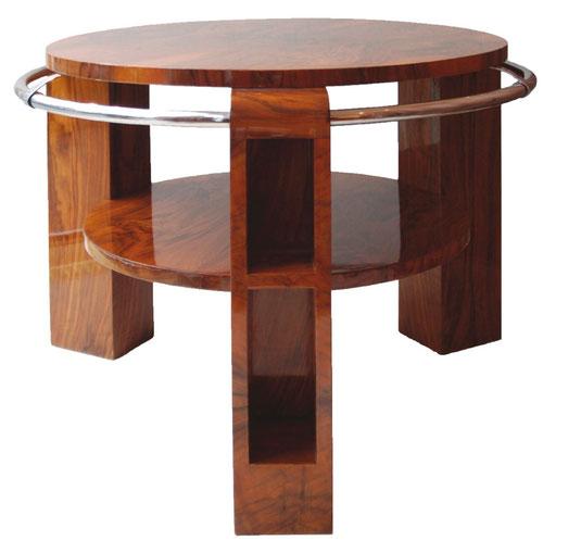 Art Déco Round Side Table, Art Déco Wiesbaden Regine Schmitz-Avila