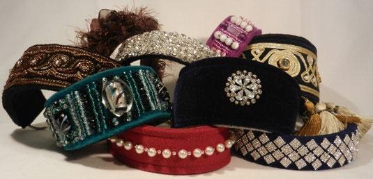 Exklusive Hundehalsbänder mit besonders hochwertigen Materialien von Annassa