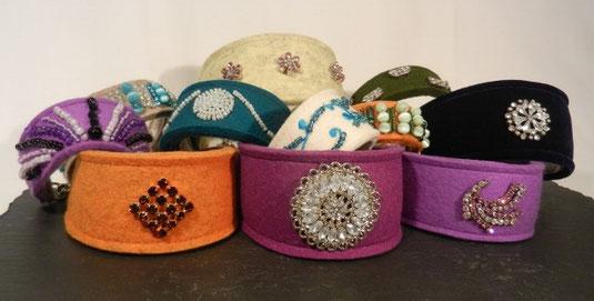 Strasshalsbänder, Perlenhalsbänder von Annassa