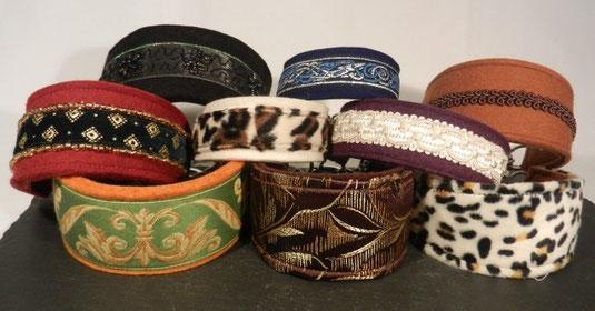 Hundehalsbänder mit Borten und Fell von Annassa