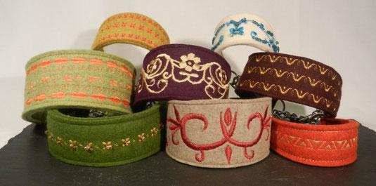 Hundehalsbänder mit Stickerei von Annassa