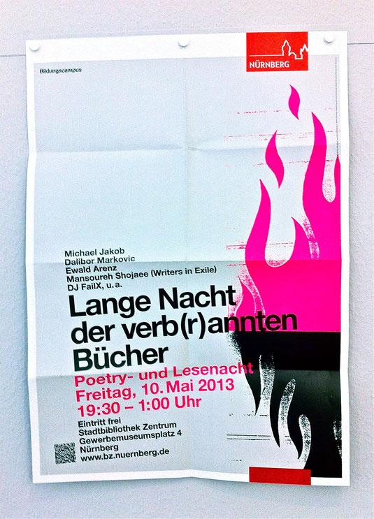 Plakat A1 - mit Leuchtfarbe gedruckt.