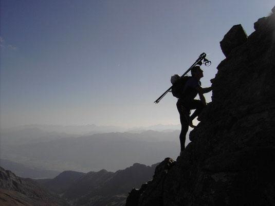 Ein Mensch, der nicht manchmal das Unmögliche wagt, wird das Mögliche nie erreichen. Erwin in seinem Element.