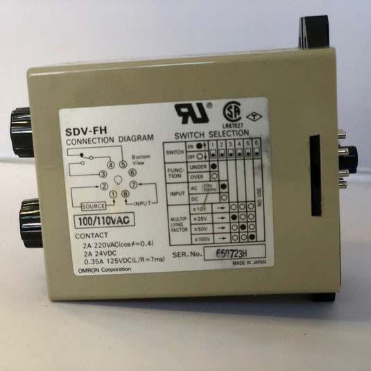 The OMRON voltage sensor unit, Type: SDV-FH6.