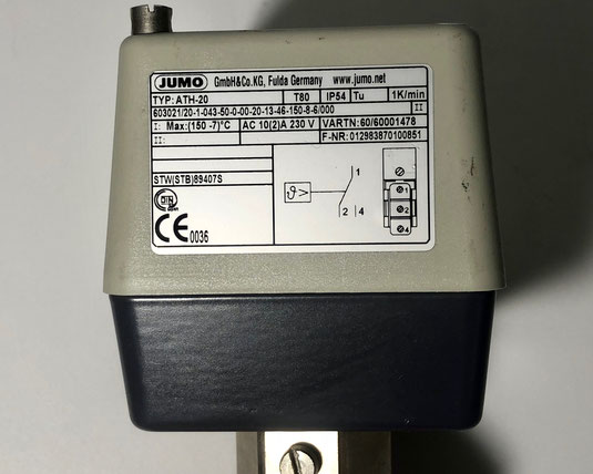 JUMO surface-mounted thermostat, Type: ATH-20