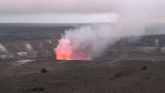 Lavaglühen am Kilauea