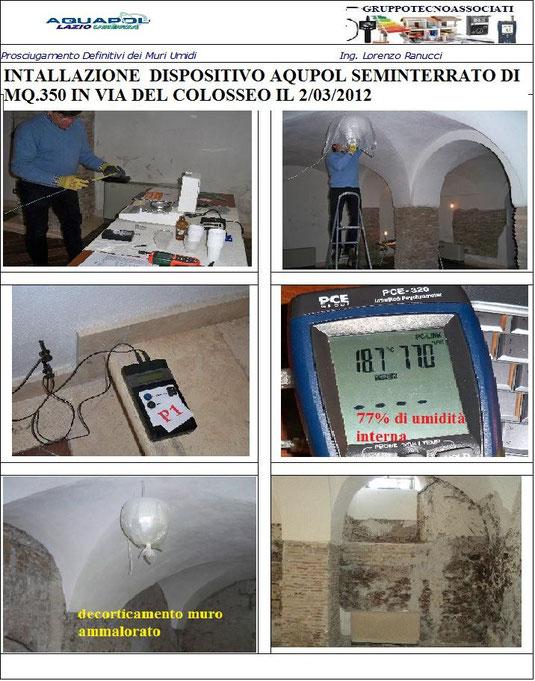 Progetto soluzione per seminterrato aquapol lazio - Umidita muri esterni casa ...