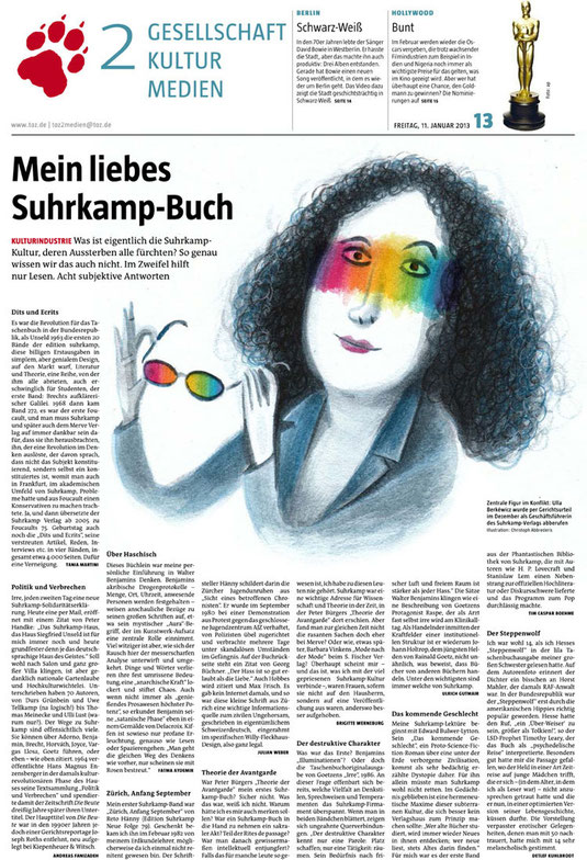 """Mein liebes Suhrkamp-Buch"" - 11. Januar 2013"