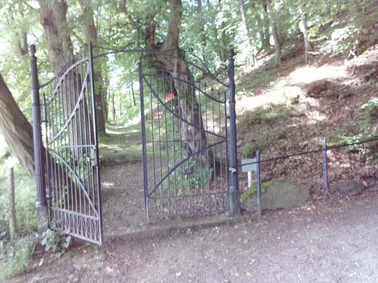 Altes Friedhofstor am Eingang des Luisenpfades