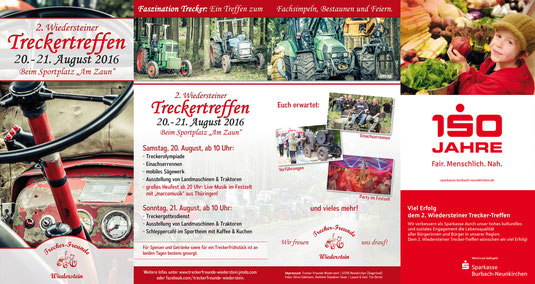 2. Wiedersteiner Treckertreffen vom 20. bis 21. August 2016