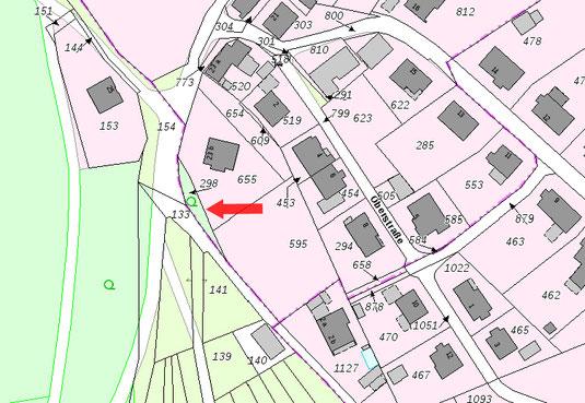 4. Oben an der Langenholzstraße, Ecke In der Hohle (bei Haus Olaf Seliger), in der Kurve im Hang