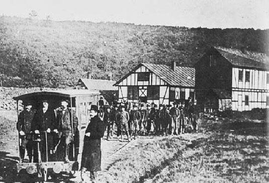 Grube Bautenberg um 1900