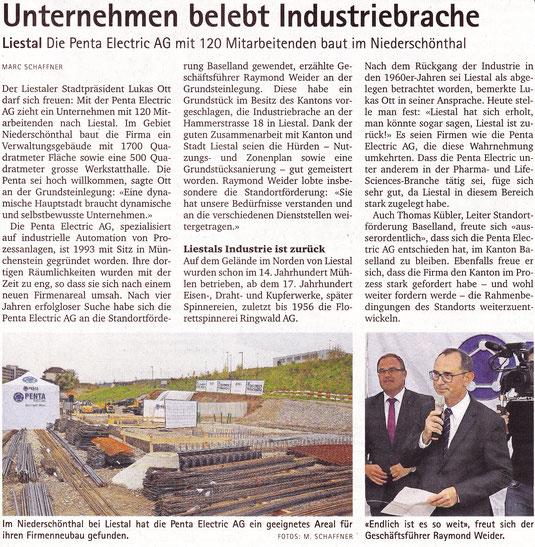 Verlagerung der Penta Electric AG von Münchenstein nach Liestal