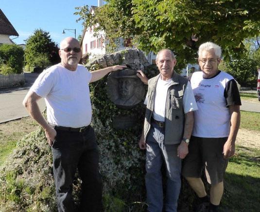 Peter Riggenbach, Kurt Renz, Willy Buser (von rechts)