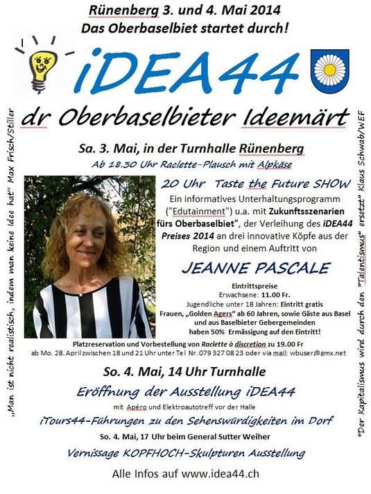 Flyer mit Jeanne Pascale