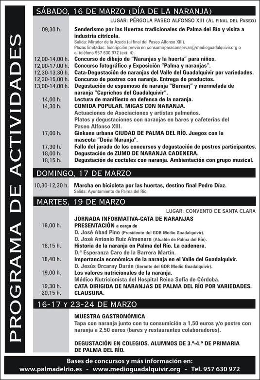 """Programación """"MES DE LA NARANJA"""" en Palma del Río. - Haz """"clic"""" en la imagen para ampliar."""