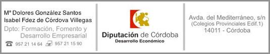 """Departamento de Formación, Fomento y Desarrollo Empresarial de la Diputación de Córdoba - Haz """"clic"""" en la imagen para ampliar."""
