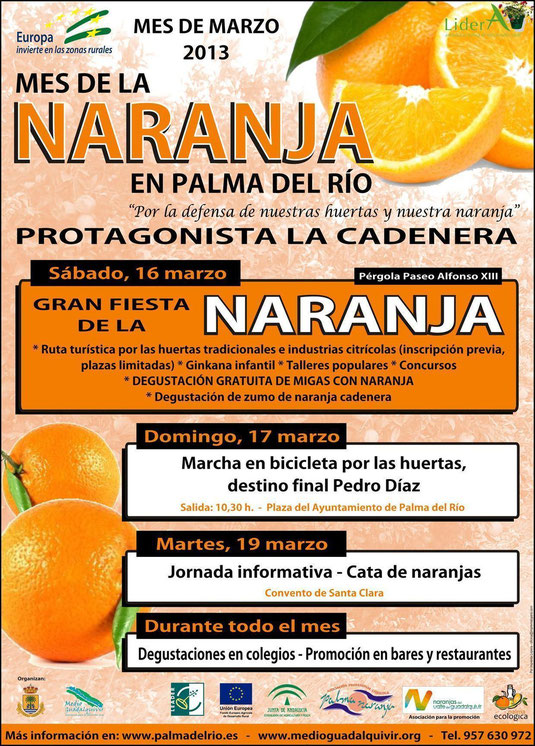 """Cartel """"MES DE LA NARANJA"""" en Palma del Río. - Haz """"clic"""" en la imagen para ampliar."""
