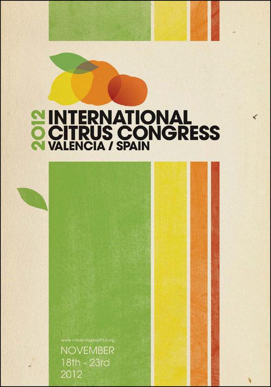 """Cartel """"XII INTERNATIONAL CITRUS CONGRESS 2012"""". - Haz """"clic"""" en la imagen para ampliar."""