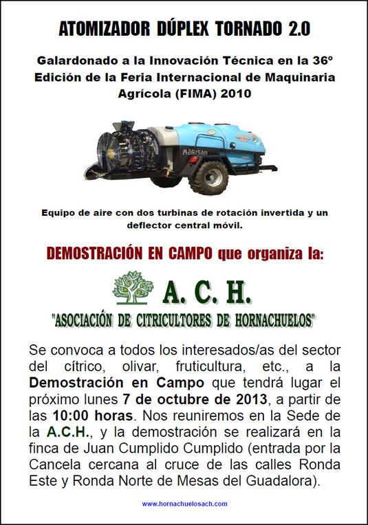 """Demostración en Campo del ATOMIZADOR DÚPLEX TORNADO 2.0 de MARISAN. - Haz """"clic"""" en la imagen para ampliar."""