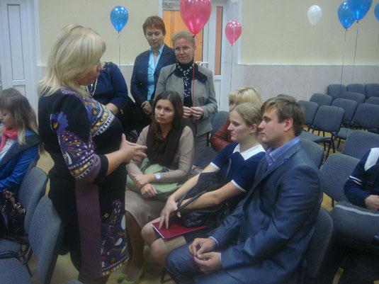 Н.А. Клейменова и участники конкурса