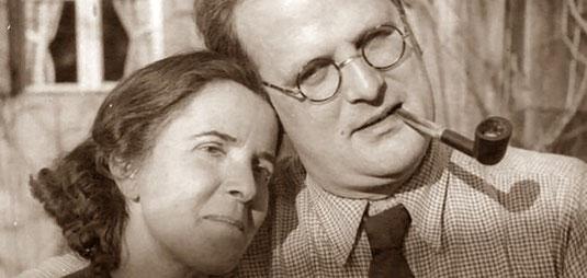 Michael Endes Eltern: Der surrealistische Kunstmaler Edgar Ende mit Luise Bartholomä-Ende