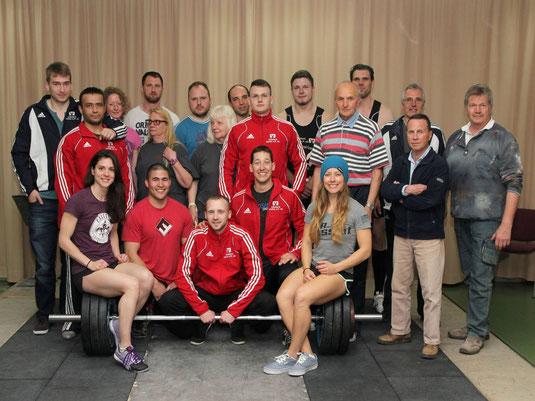 Athleten und Funktionspersonal des ASC am 12.04.