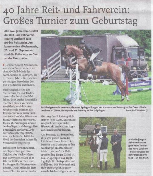 Holsteiner Allgemeine, 17.09.2014