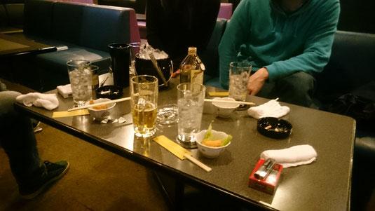大村選手は「ボトル減らんから濃いめで」とガンガンとばしてました(笑)