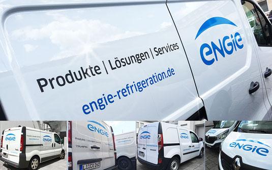 Fahrzeugbeschriftung / Fahrzeugbeklebung / Fuhrpark / Flotte