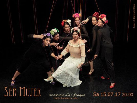 """Titelfoto zum spanischen Sommerfest am 15.07.2017 im Tanzstudio La Fragua mit der Flamenco-Aufführung """"Ser Mujer"""" / Color-Foto by Boris de Bonn"""