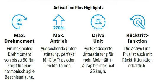 Die Vorteile des Bosch Active Line Plus e-Bike Antriebs auf einen Blick