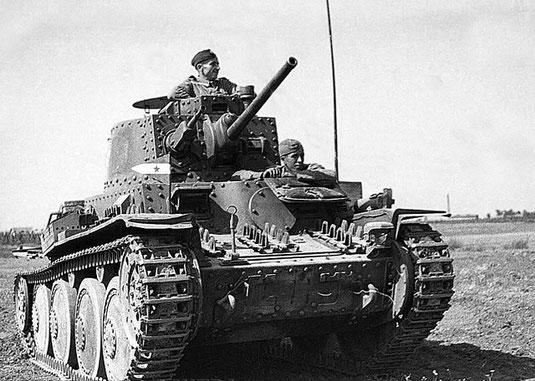 Récupéré par l'Armée allemande, le char tchèque prend la désignation Panzer 38 (t)