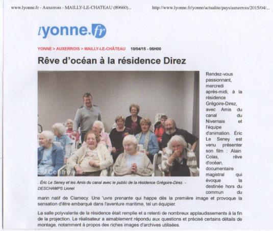 Yonne Républicaine 10/04/15
