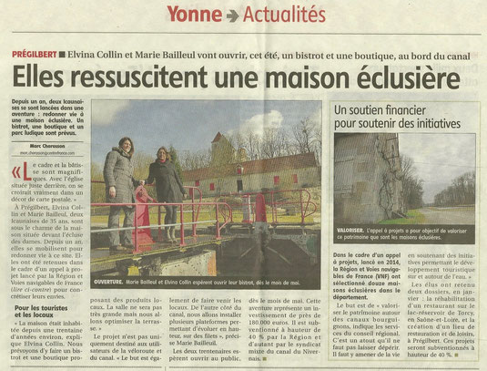 Article Yonne Républicaine 5 Mars 2015