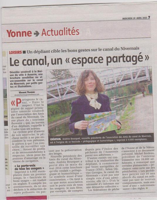 Yonne Républicaine 29/04/15