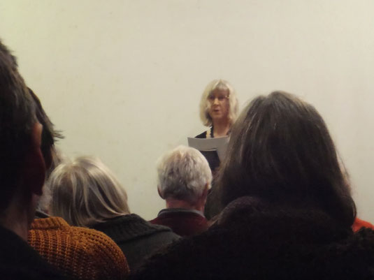 Poetry reading by Julie Sampson, at Uncut Poets, Exeter.